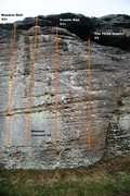 Rock Climbing Photo: Meadow Wall far right Topo