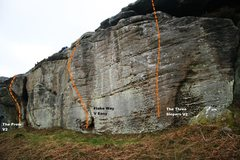 Rock Climbing Photo: Meadow Wall right side Topo