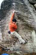 Rock Climbing Photo: With the crimp in hand pull up and move onto the s...