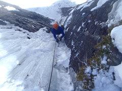 Rock Climbing Photo: Danny Murphy following P2.