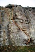 Rock Climbing Photo: Flake Way Topo
