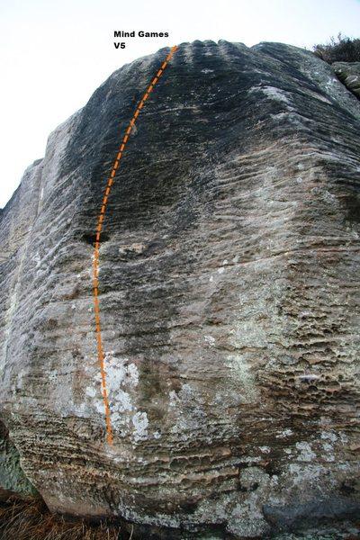 Rock Climbing Photo: Mind Games Topo