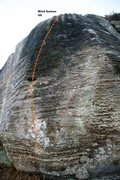 Rock Climbing Photo: Mind Games Topo
