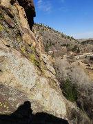 Rock Climbing Photo: Exposed corner traverse.