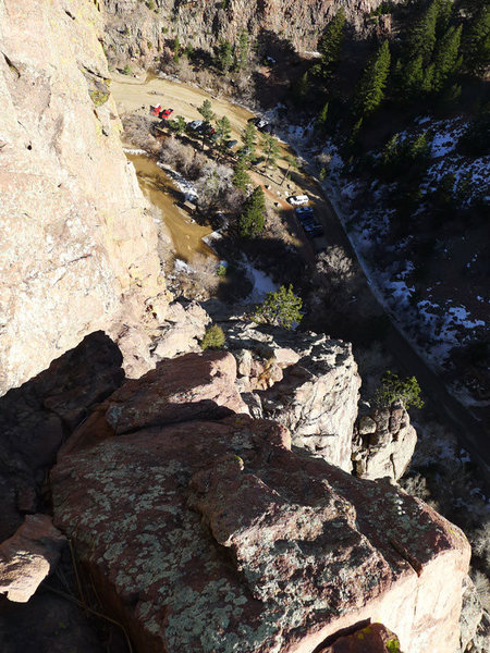 Rock Climbing Photo: View from the P2 belay.