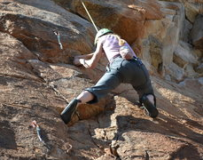 Rock Climbing Photo: pulling the lower face moves