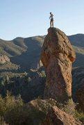 Rock Climbing Photo: Photo of a climber on top.