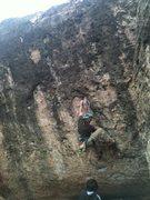 Rock Climbing Photo: Second bolt on The Mutant.