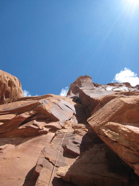 Rock Climbing Photo: Ben on 1st pitch