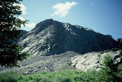 Rock Climbing Photo: The indistinct ridge just getting light at the top...