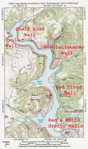 Rock Climbing Photo: Uvula Wall location