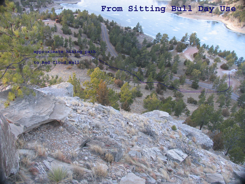 Finding the trail from Sitting Bull Day Use Area