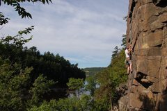 Rock Climbing Photo: Leading Piece of Cake, Summer 2011