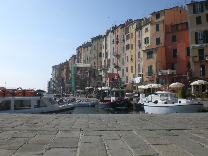 The small town of Porto Venere is a short hike away from the crag.