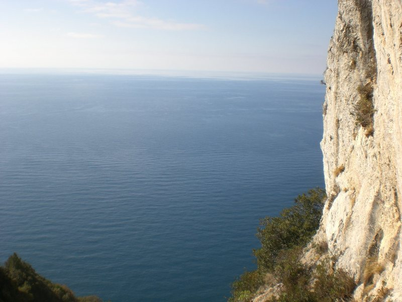 Rock Climbing Photo: Parete Dimenticata. You can see from the angle at ...