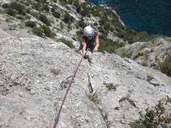Rock Climbing Photo: Pitch 4 feels like it should go left at the top, b...