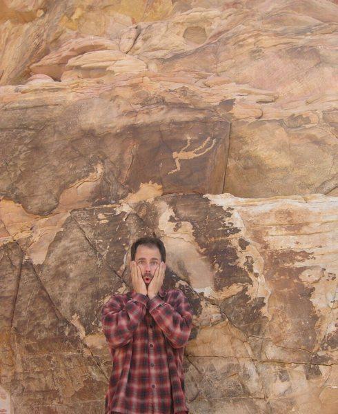 Rock Climbing Photo: My BF at Falling Man.