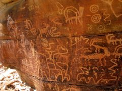 Rock Climbing Photo: Just one of the many petroglyph panels at Gold But...