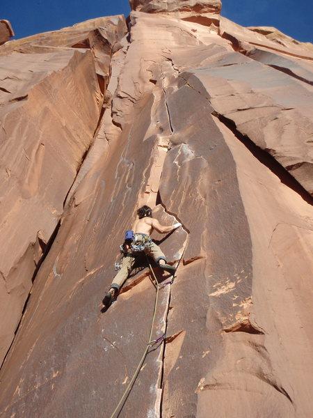 Rock Climbing Photo: cruising on Keyhole