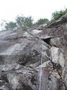 Rock Climbing Photo: This pitch is P1 of Solitude and can be linked wit...