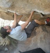 "Rock Climbing Photo: On ""Nobody here gets out alive"" V2 Hueco..."