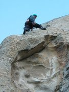 Rock Climbing Photo: Matt on the FA of Pave Paradise