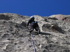 Rock Climbing Photo: Patty Black on the FA of Castle Keep