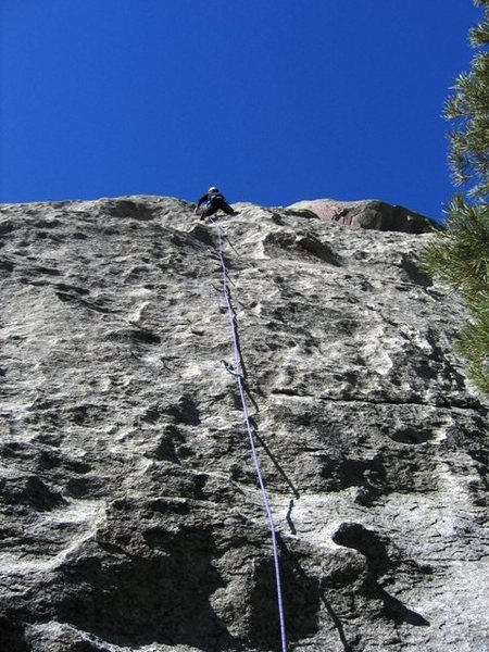 Rock Climbing Photo: FA of Castle Keep.  Patty Black on point.