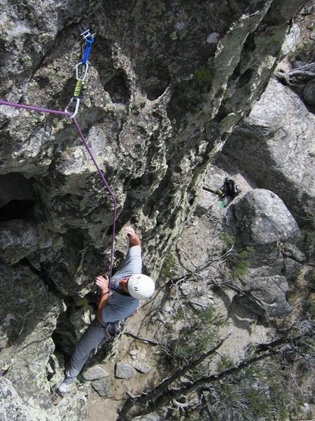 Rock Climbing Photo: Jugs galore on this steep face.