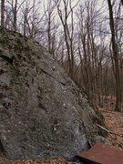 Rock Climbing Photo: Sugar Maple Slab (Undercling rail start chalked)