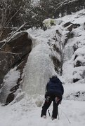 "Rock Climbing Photo: ""Are we there yet?""  WI4, Indian Lake NY..."