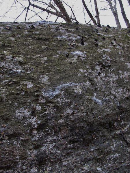 Big thin hollow flake on Jemima