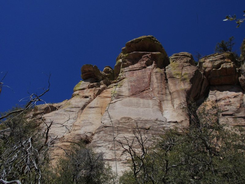 "Rock Climbing Photo: Nurd Rock, w first pitch of ""Desire"" sho..."