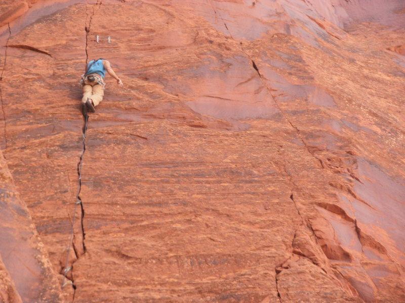 Rock Climbing Photo: Wayne sending the 2ed ascent