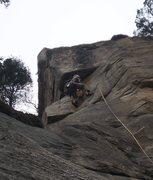 Rock Climbing Photo: The final fun moves on P3.