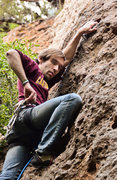 Rock Climbing Photo: This was my first lead climb.
