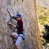 Me climbing the Far Left route.