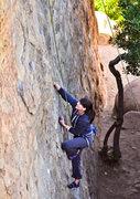 Rock Climbing Photo: Jenna on Left Hand.