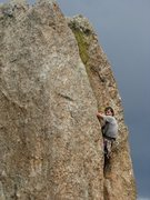 Rock Climbing Photo: Estes Park 5.9 at fin city, short but sweet