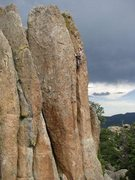 Rock Climbing Photo: same 5.9 at fin city zoomed out a bit