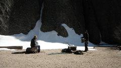 Rock Climbing Photo: gearin up