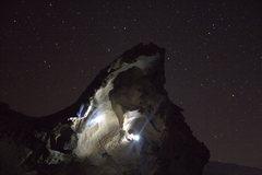 Rock Climbing Photo: Night time ascent