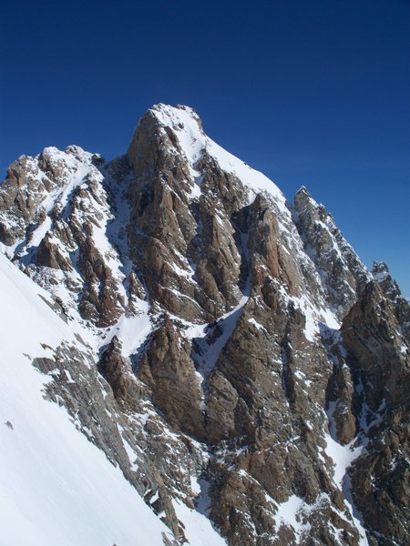 Rock Climbing Photo: The Grand Teton. LIVE TO SKI