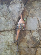 Rock Climbing Photo: Middle Finger Wall  The Bear (5.7) trad  Crowders ...