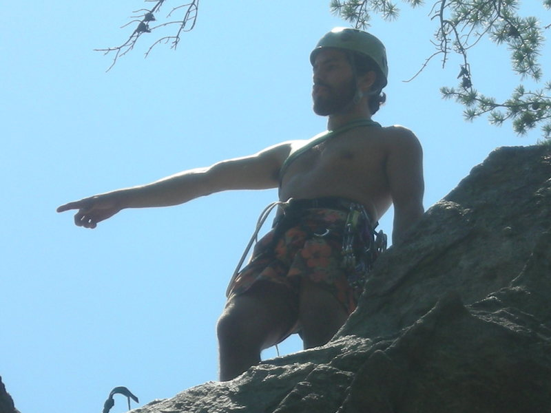 Rock Climbing Photo: After leading the bear for the first time in 2007.