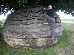 Rock Climbing Photo: Nicole getting her rock on.