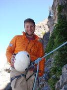 Rock Climbing Photo: On pitch 2 of Black Streak