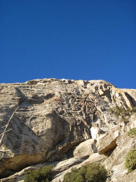 Rock Climbing Photo: The Chauvinist starts under the crack of Left Ski ...