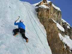 Rock Climbing Photo: ice lead