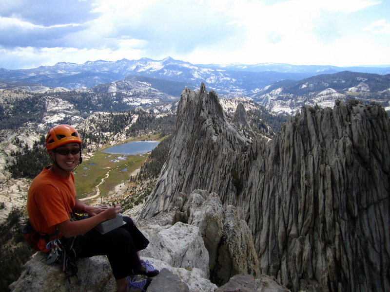 Rock Climbing Photo: Me at the North summit of Matthes Crest.